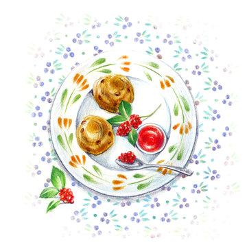お気に入りの小皿・アフタヌーンティー