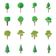 trees vector with style flat design