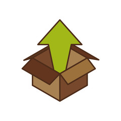 Box delivery package icon vector illustration graphic design
