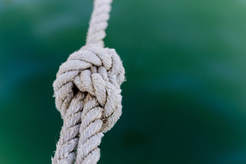 Rope , canat knotted close up