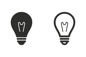 Lamp - vector icon.
