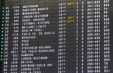 Flughafen - Anzeigetafel