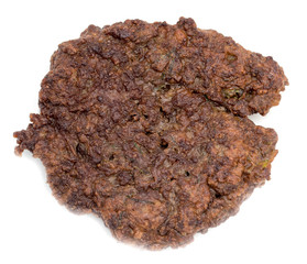cutlets of liver on a white background