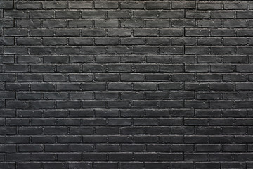 Black brick wall for background, painted brick