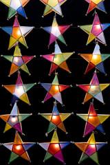 Multi colored star lamps