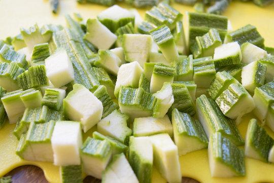 zucchini clipped in chunks