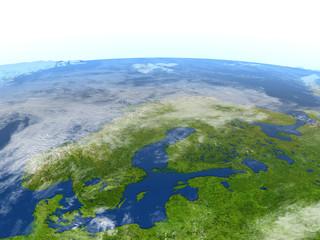 Scandinavian Peninsula on planet Earth