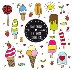 Hand Drawn Ice Cream Collection
