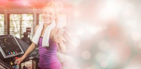 Woman at Gym smiling at camera