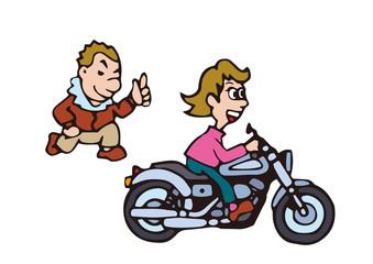 大型バイクイラスト、アメリカンバイク