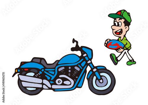大型バイクイラストアメリカンバイクfotoliacom の ストック写真と