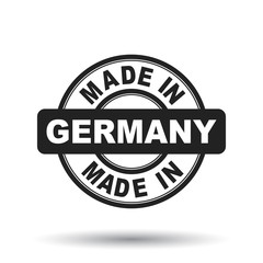 Made in Germany black stamp. Vector illustration on white background