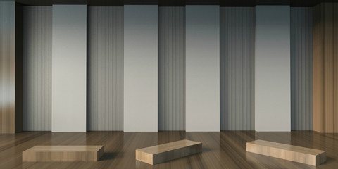 Gallery Exhibition artist Minimal and Chair Contemporary creative display on wall studio