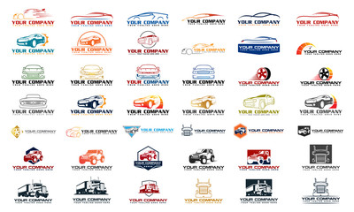 Set vector car logo, set vector automotive logo, set car logo collection, set car logo template