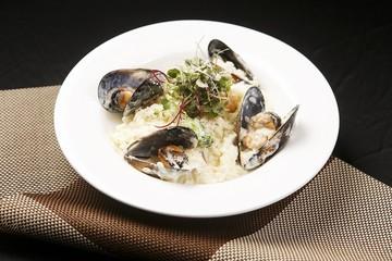 seafood cream risotto