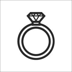 ring vector icon