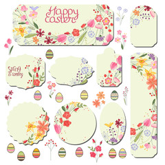 Set with floral templates. Stiylized wild flowers for your design, advertisements