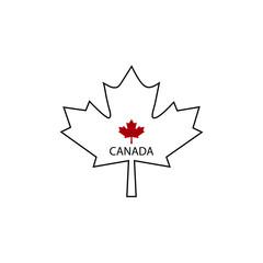 Symbol of Canada maple leaf