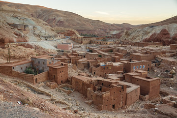 View of the Berber village of Tajeguite
