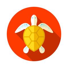 Sea turtle icon. Summer. Vacation