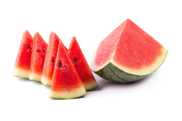 Ripe watermelon on a white background