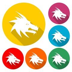Dragon mascot icon - vector Illustration