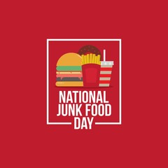 National Junk Food Day Vector Illustration