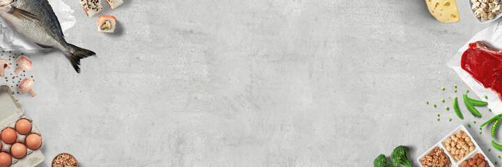 Eiweisshaltige / Proteinreiche Ernährung - Banner