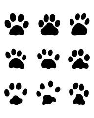 Black footprints of rabbits, vector