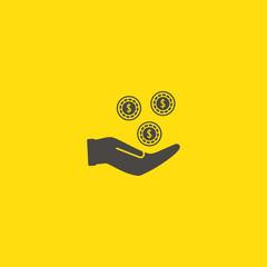 Earn money vector icon