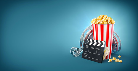 Unusual cinema concept 3D illustration