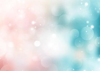Soft blue pink gradient bokeh blurred background.