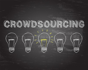 Crowdsourcing Light Bulbs Blackboard
