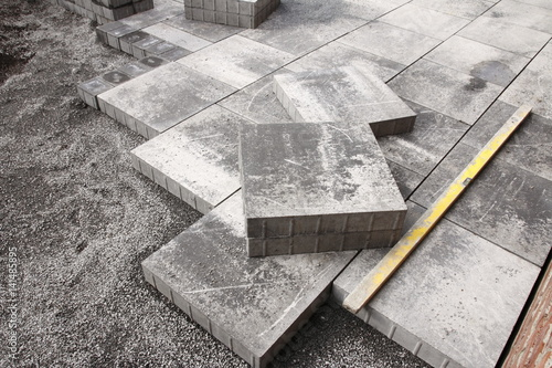 pflastern gehweg terrasse zdj stockowych i obraz w. Black Bedroom Furniture Sets. Home Design Ideas