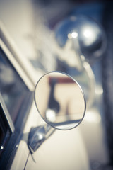 Vintage car side mirror