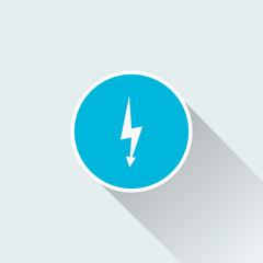 flat thunder icon