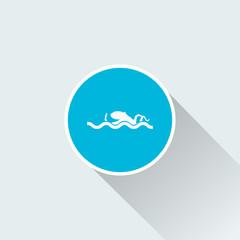 flat octopus icon