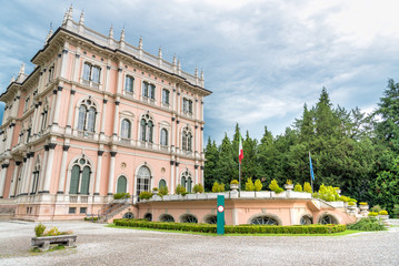 Villa Andrea Ponti nestled in a park of rare trees of Varese, Italy