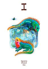 English Alphabet series of Amusing Animals letter I