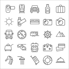 travel icon set on white background