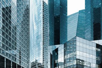 tour immeuble gratte ciel building affaire quartier banque travail travailler salaire avenir perspective réussite société entreprise vitre verrière moderne argent dollar euro business Wall mural