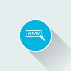 flat www icon
