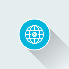 flat email symbol icon