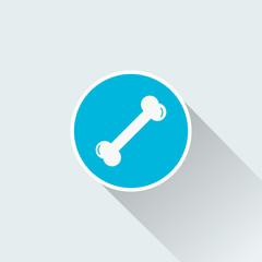 flat bone icon