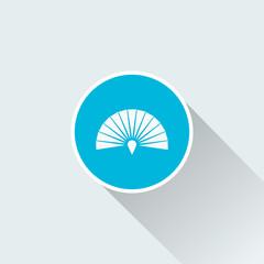 flat Japanese folding fan icon