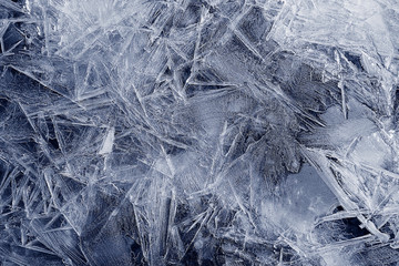 Transparent ice crystals texture cracked background Wall mural