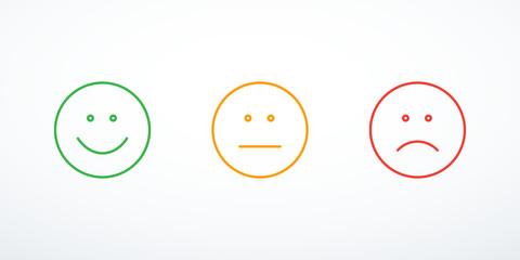 Set of emoticon icons