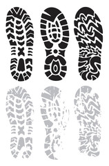 footprint shoes vector
