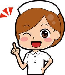 ポイントを説明する看護師のイラスト