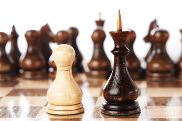 Chessmen, king and pawn